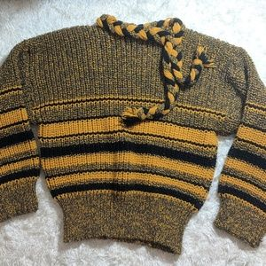 Vintage | Yellow and Black Striped Sweater